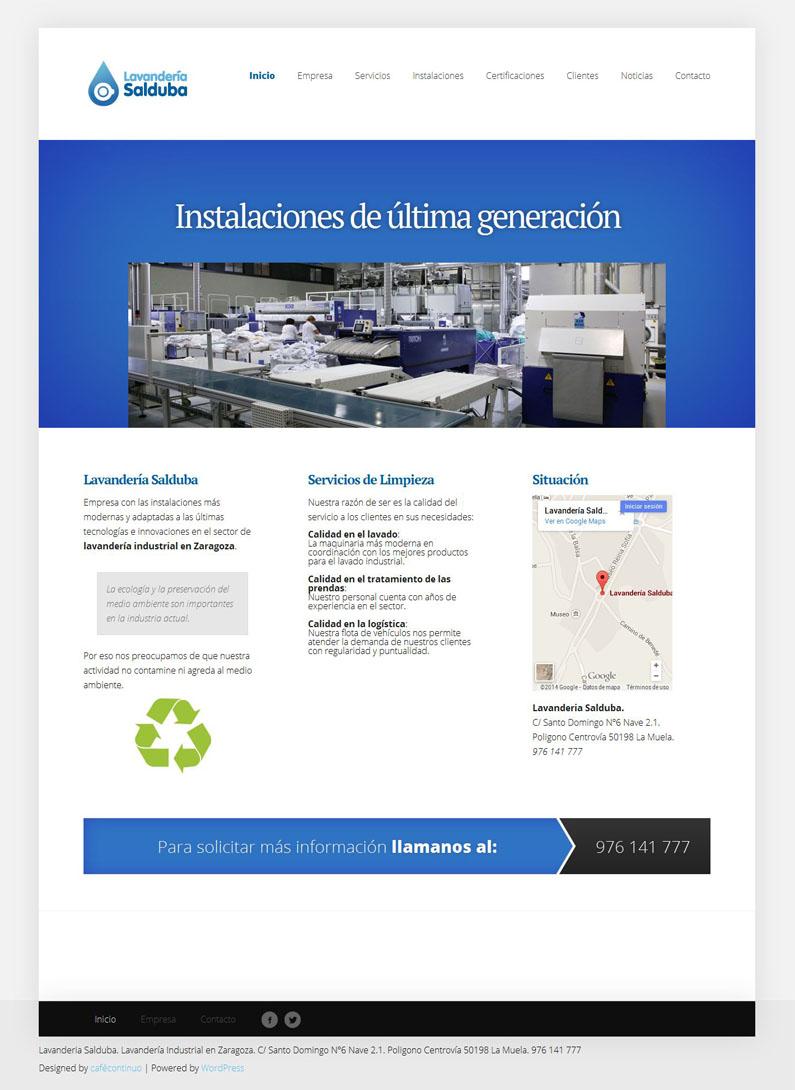 Lavandería Salduba web