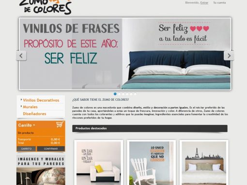 Zumo de colores tienda online